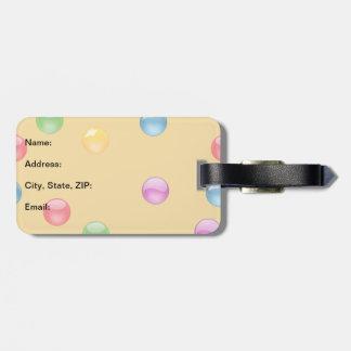 Multicolor Shiny Polkadot Confetti DIY Background Luggage Tags