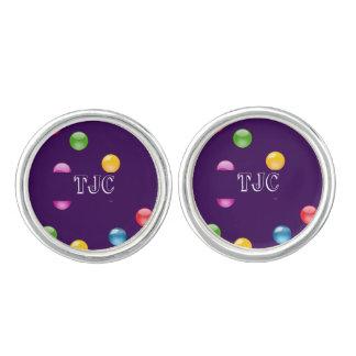 Multicolor Shiny Polkadot Confetti DIY Background Cufflinks