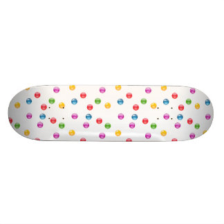 Multicolor Shiny Polkadot Confetti DIY Background Skateboard Deck