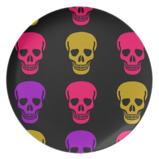 Multicolor Skulls Plate