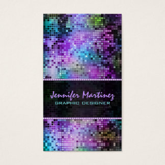 Multicolor Sparkles & Glitter Pattern 3 Business Card