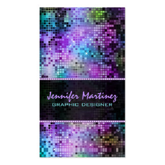 Multicolor Sparkles & Glitter Pattern 3 Pack Of Standard Business Cards