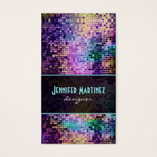 Multicolor Sparkles & Glitter Pattern Business Card