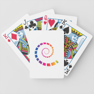 Multicolor Spiral Bicycle Playing Cards