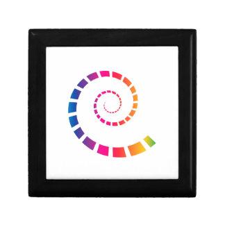 Multicolor Spiral Gift Box