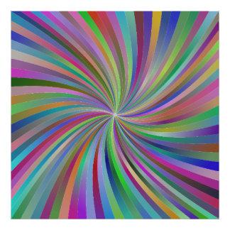 Multicolor spiral photograph