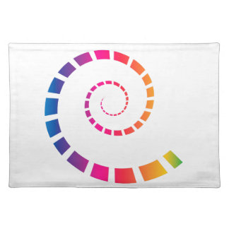 Multicolor Spiral Placemat
