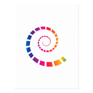 Multicolor Spiral Postcard