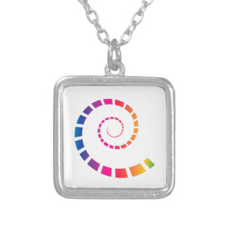 Multicolor Spiral Silver Plated Necklace