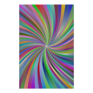 Multicolor spiral personalized stationery