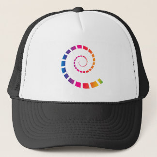 Multicolor Spiral Trucker Hat