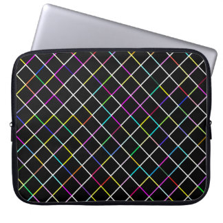 Multicolor Square Lined Pattern Laptop Sleeve