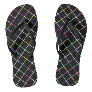 Multicolor Square Lined Pattern Thongs