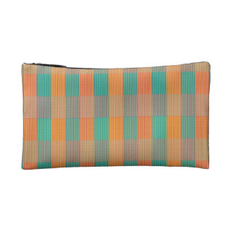 Multicolor Square.Seamless Colored Plaid Pattern Cosmetic Bags