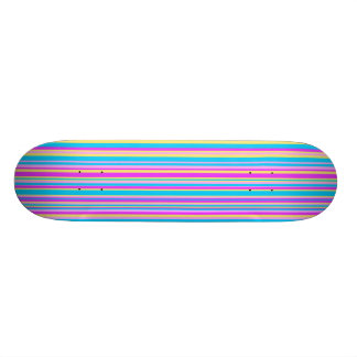 Multicolor Stripe Skate Board
