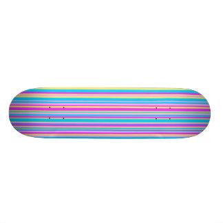Multicolor Stripe Skate Deck