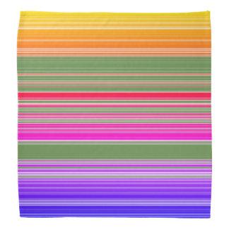 Multicolor Striped Pattern Bandana