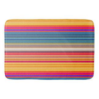 Multicolor Striped Pattern Bath Mat