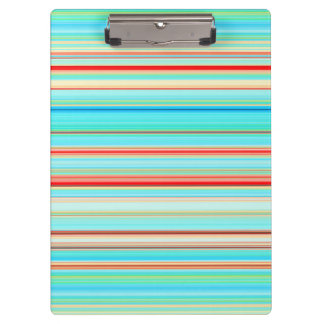 Multicolor Striped Pattern Clipboard