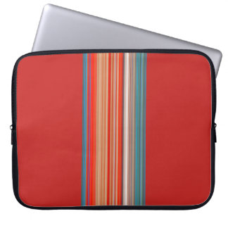 Multicolor Striped Pattern Laptop Computer Sleeve