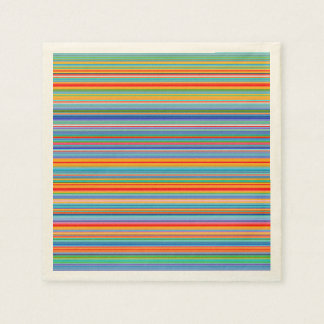 Multicolor Striped Pattern Paper Serviettes