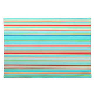 Multicolor Striped Pattern Placemat