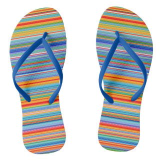 Multicolor Striped Pattern Thongs