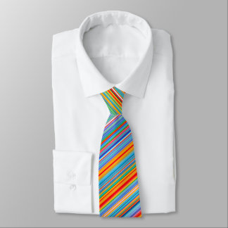 Multicolor Striped Pattern Tie