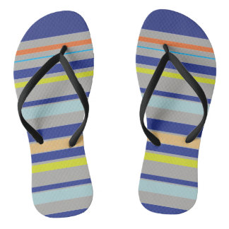 Multicolor stripes Adult, Slim Straps Flip-flops Thongs