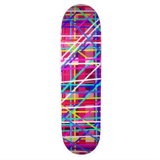 Multicolor stripes blocks custom skate board