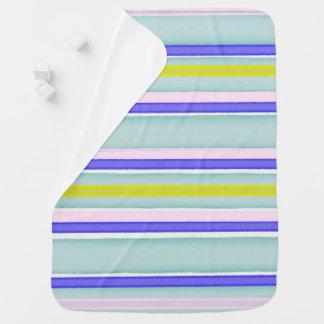 Multicolor stripes design receiving blanket