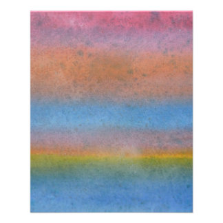 Multicolor Stripes. Personalized Flyer