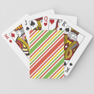 Multicolor Stripes Pattern Playing Cards