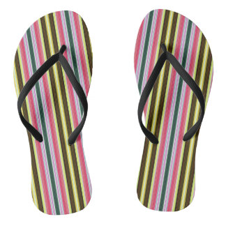 Multicolor Stripes Thongs