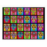 Multicolor Sugar Skull Squares