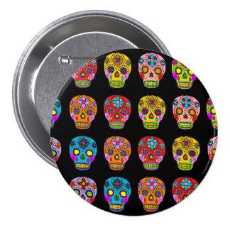 Multicolor Sugar Skulls 7.5 Cm Round Badge