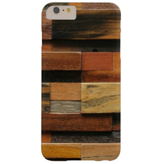 Multicolor Textured Wood Collage Barely There iPhone 6 Plus Case