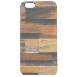 Multicolor Textured Wood Collage Clear iPhone 6 Plus Case