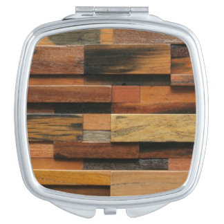 Multicolor TexturedWood Collage Mirror For Makeup