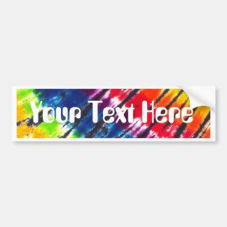 Multicolor Tie-Dye Bumper Sticker