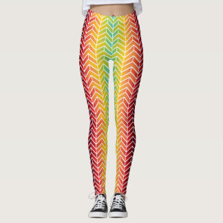 Multicolor Tire Treads Pattern Leggings