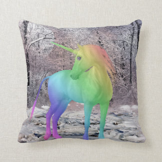 multicolor unicorn pillow