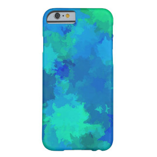 Multicolor Watercolor Splatter Paint Abstract Art Barely There iPhone 6 Case