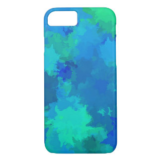 Multicolor Watercolor Splatter Paint Abstract Art iPhone 7 Case
