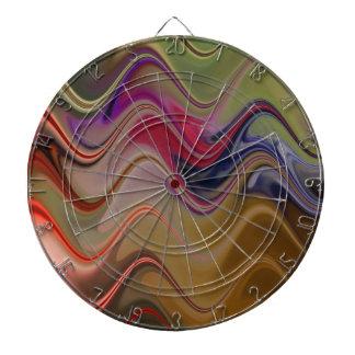 Multicolor waves dartboard