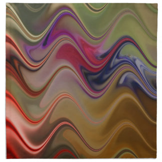 Multicolor waves napkin