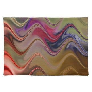 Multicolor waves placemat