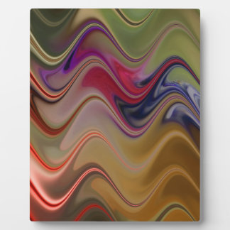 Multicolor waves plaque