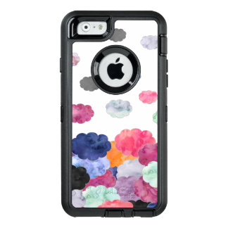 Multicolor whimsical watercolour clouds pattern OtterBox iPhone 6/6s case