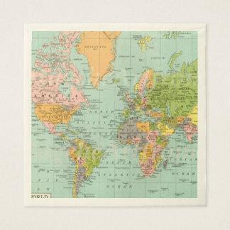 Multicolor World Map Baby Shower Collection Napkin Disposable Serviette